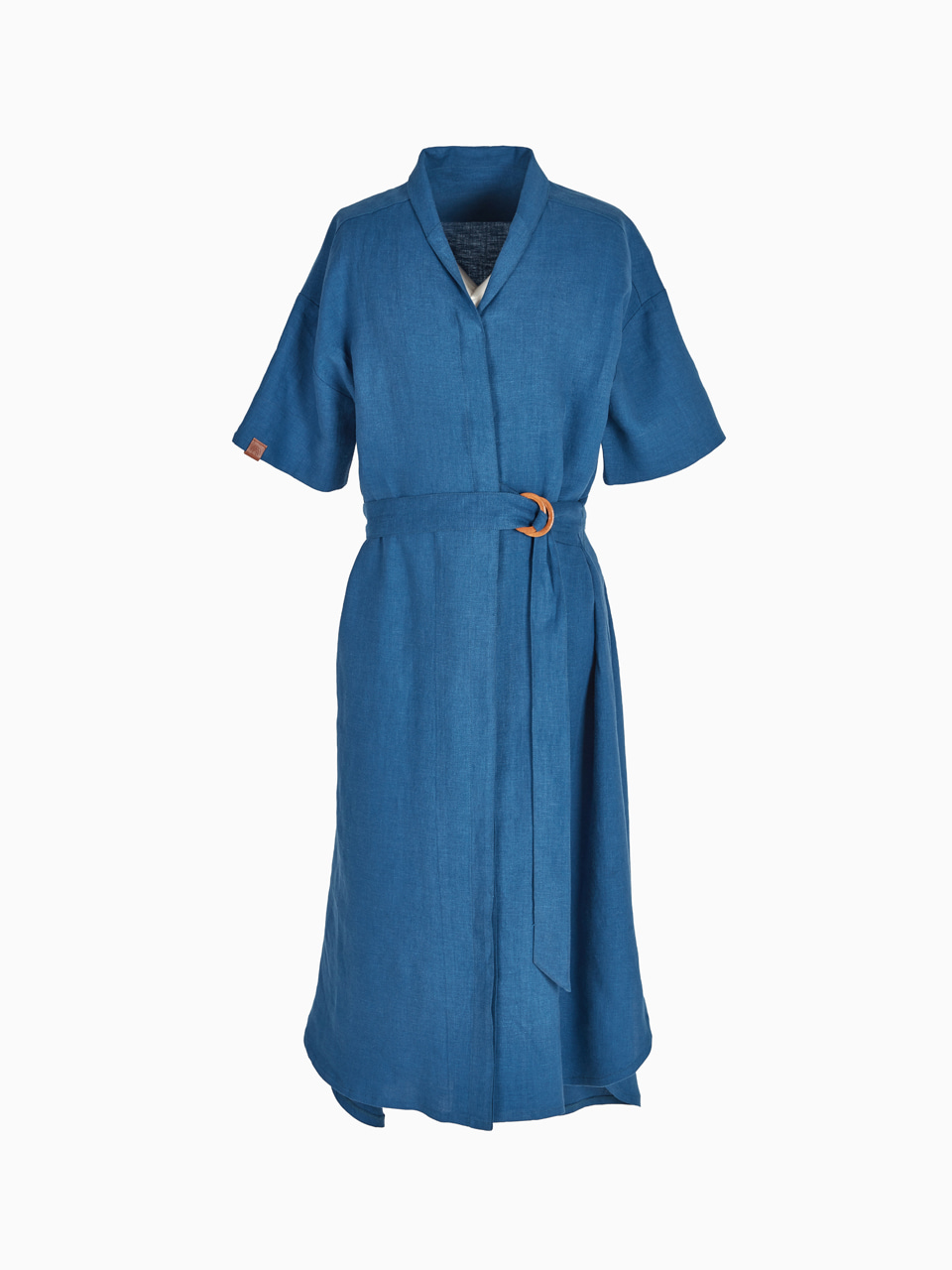 LINEN LONG ONE-PIECE (Blue)