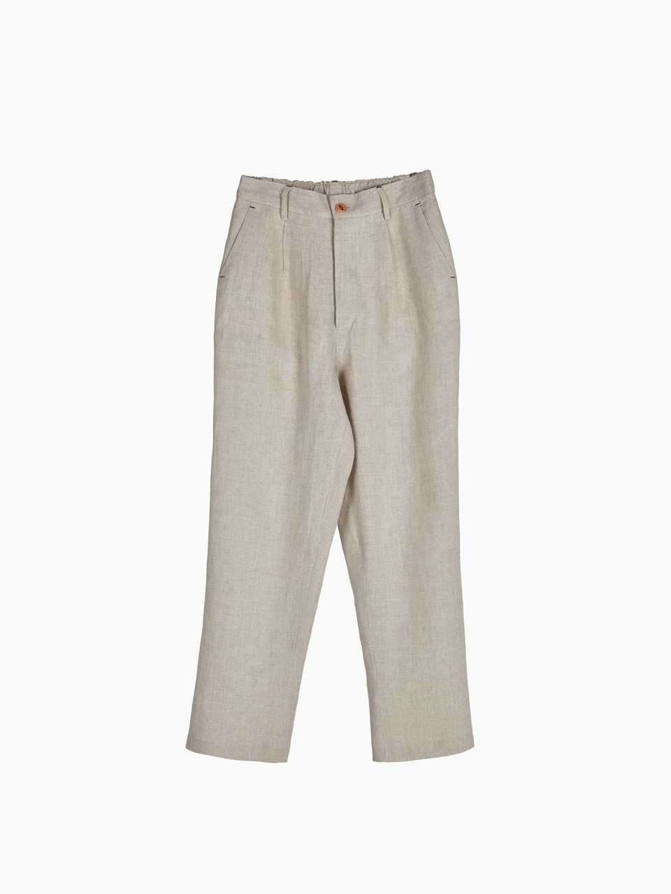 [Last 4 piece] LINEN NATURAL PANTS for WOMEN (Beige)