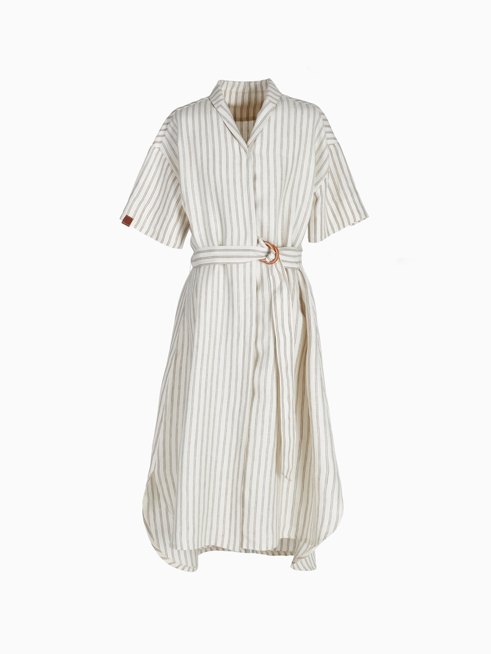 LINEN LONG ONE-PIECE (Stripe)