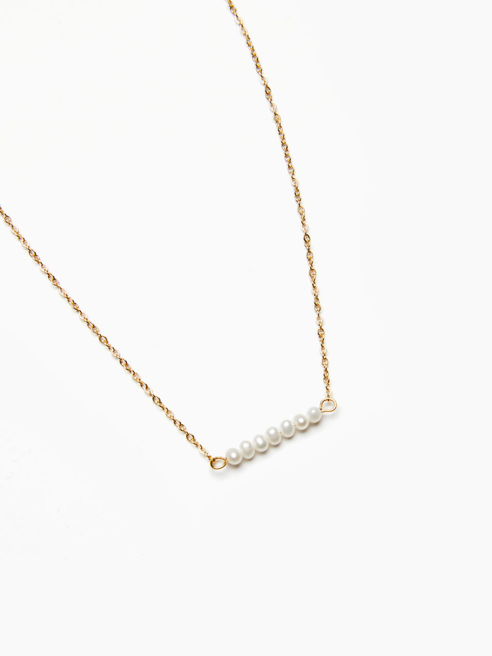 [GABIE KOOK] GOLDEN CHAIN PEARL NECKLACES
