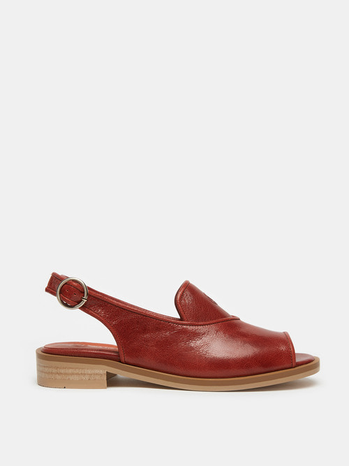 LEAF SANDALS (Red Burgundy)