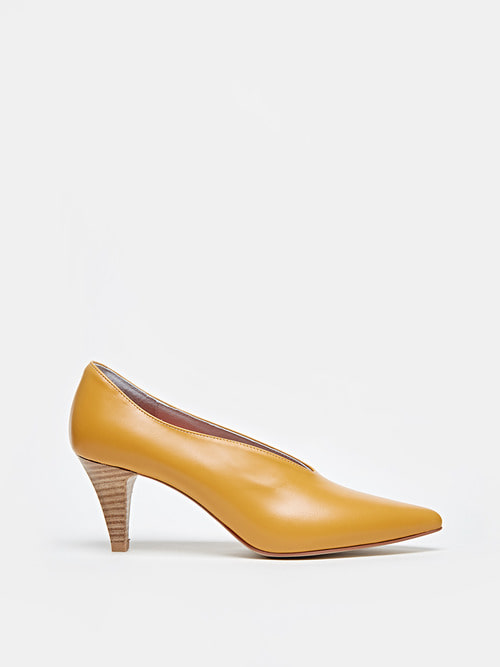 ANNA HEELS (Pumpkin yellow)