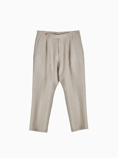LINEN NATURAL PANTS for MEN (Beige)