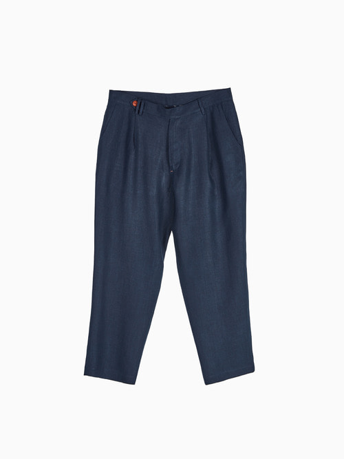 LINEN NATURAL PANTS for MEN (Navy)