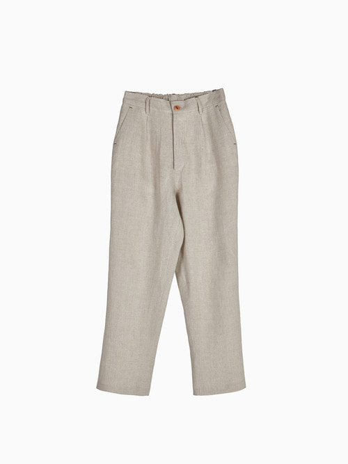 LINEN NATURAL PANTS for WOMEN (Beige)