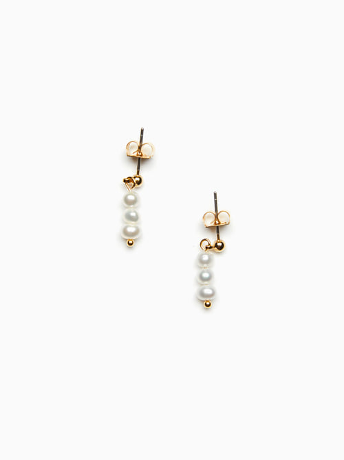 GOLDEN DEW  PEARL EARRINGS