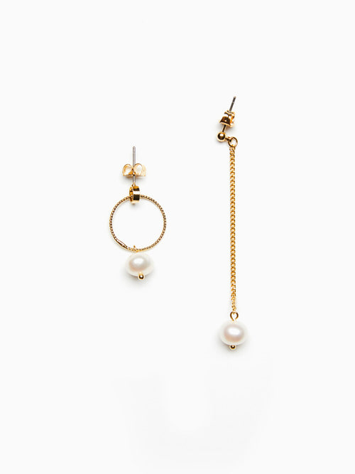 [예약배송 9/17 ~ 순차 출고] UNBAL GOLDEN PEARL EARRINGS