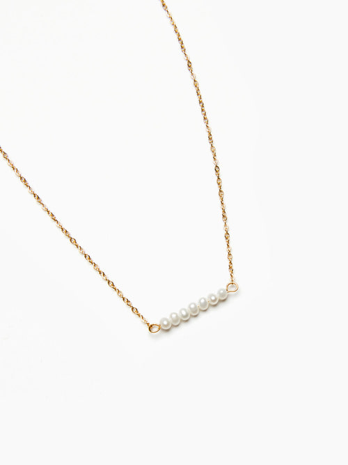 GOLDEN CHAIN PEARL NECKLACES