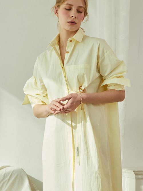 Reina SHIRTS DRESS - 2 WAY (SOFT YELLOW)