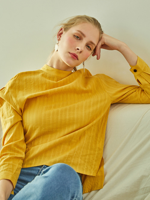 Lauren LACE BLOUSE (MUSTARD YELLOW)