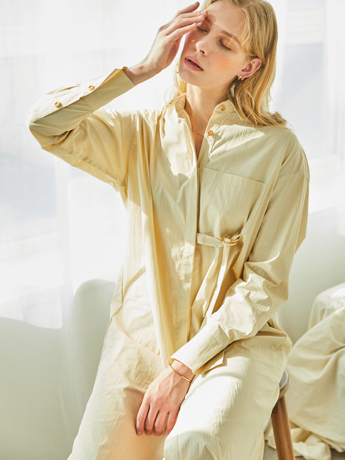 Reina SHIRTS DRESS - 2 WAY (BEIGE)