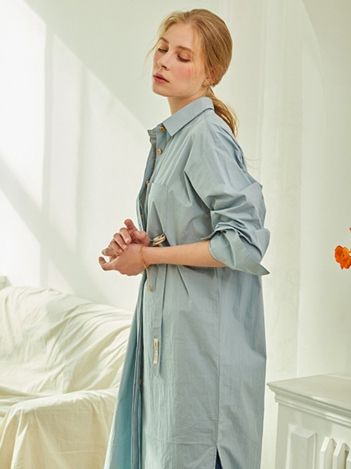 Reina SHIRTS DRESS - 2 WAY (SOFT BLUE)